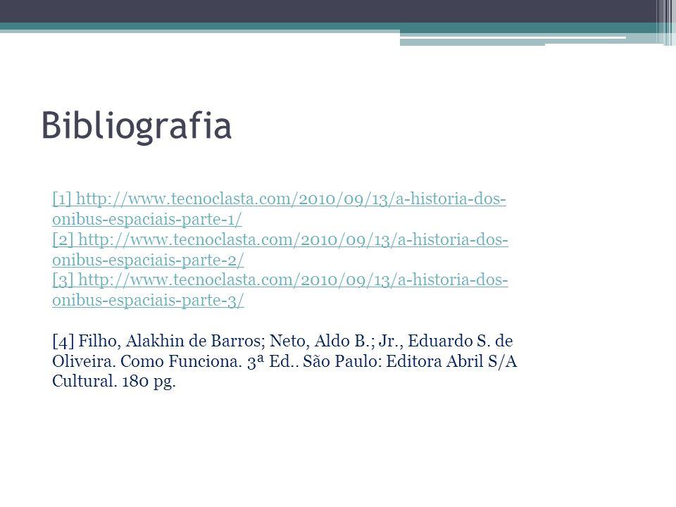 Bibliografia [1] http://www.tecnoclasta.com/2010/09/13/a-historia-dos-onibus-espaciais-parte-1/
